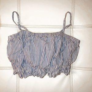 Pacsun LA Hearts Pinstripe Crop Top